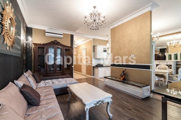 Гостиная в квартире на ул. Фадеева, д. 4А