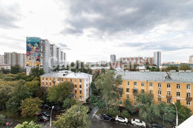 Вид из окна в квартире на ш. Хорошёвское, д. 16, к. 1
