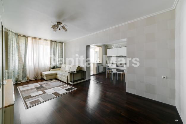 Гостиная в квартире на ул. Лобачевского, д. 41