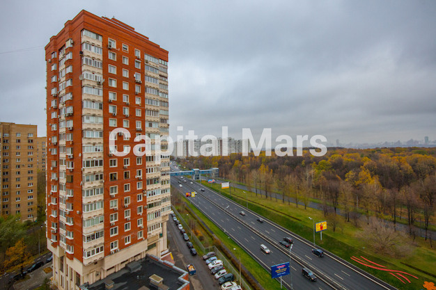 Вид из окна в квартире на ул. Молодогвардейская, д. 2, к. 2