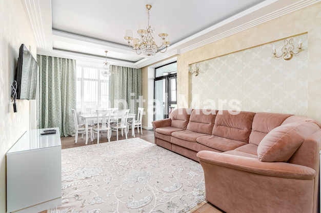 Гостиная в квартире на ул. Академика Павлова, д. 24