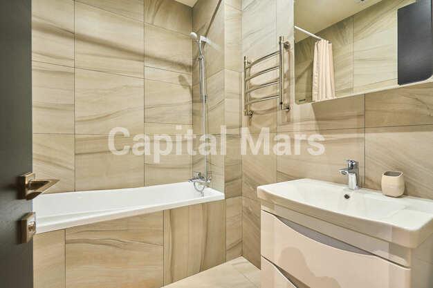 Ванная комната в квартире на ул. Филёвская Б., д. 4