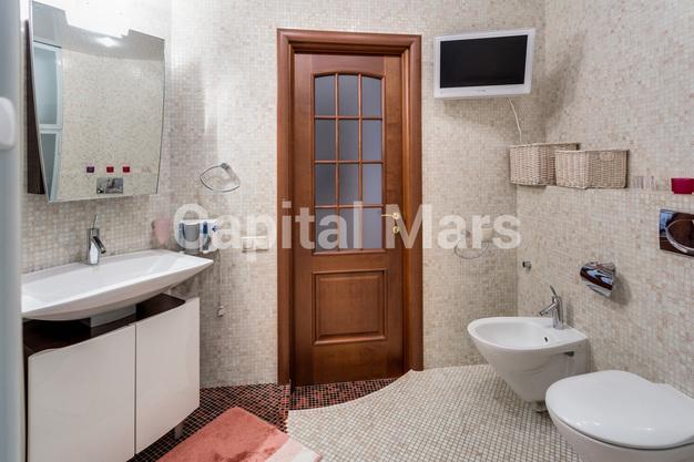 Ванная комната в квартире на ул. Маршала Тухачевского, д. 58, к. 3