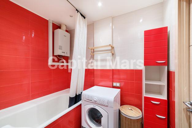 Ванная комната в квартире на Ленинградский пр-кт, д. 1